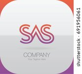 logo letter combinations s  a... | Shutterstock .eps vector #691956061