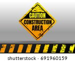 construction road sign.