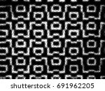 grunge halftone black and white.... | Shutterstock . vector #691962205