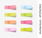 note sticky sticker isolated.... | Shutterstock .eps vector #691962361