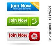 join now modern minimal button... | Shutterstock .eps vector #69196309