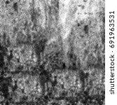 grunge halftone black and white.... | Shutterstock . vector #691963531