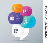 infographics design vector and... | Shutterstock .eps vector #691965787