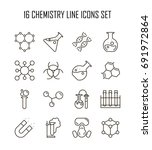 chemistry icon set. collection... | Shutterstock .eps vector #691972864