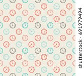 seamless colorful pattern.... | Shutterstock .eps vector #691979494