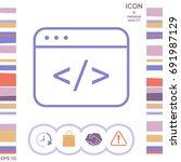 code editor icon | Shutterstock .eps vector #691987129