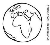 globe. earth. planet earth.... | Shutterstock .eps vector #691990819