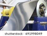 rolls of cold rolled galvanized ... | Shutterstock . vector #691998049