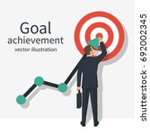achievement goal concept.... | Shutterstock .eps vector #692002345