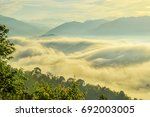 amazing clouds with heavy fog...   Shutterstock . vector #692003005