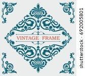 vintage decorative frame....   Shutterstock .eps vector #692005801
