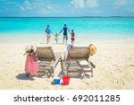 family beach vacation | Shutterstock . vector #692011285