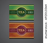 vector set of packaging tea... | Shutterstock .eps vector #692013364