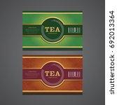 vector set of packaging tea... | Shutterstock .eps vector #692013364