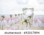 beach wedding dress  this... | Shutterstock . vector #692017894