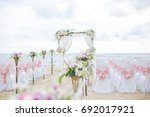 beach wedding dress  this... | Shutterstock . vector #692017921