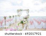 beach wedding dress  this... | Shutterstock . vector #692017921