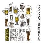 drink beer. vector illustration.... | Shutterstock .eps vector #692024719