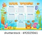 design of the school timetable... | Shutterstock .eps vector #692025061