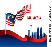 vector illustration of malaysia ... | Shutterstock .eps vector #692025889