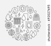 hydropower concept circular... | Shutterstock .eps vector #692027695