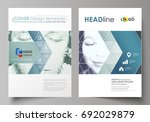 business templates for brochure ... | Shutterstock .eps vector #692029879