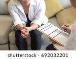 healthcare concept of... | Shutterstock . vector #692032201