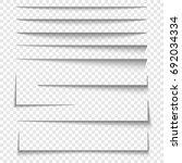 paper sheet shadow effect.... | Shutterstock .eps vector #692034334