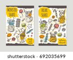 monster shake brochure flyer... | Shutterstock .eps vector #692035699
