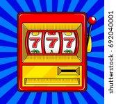 slot machine pop art style... | Shutterstock .eps vector #692040001