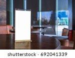 mock up menu frame in bar... | Shutterstock . vector #692041339