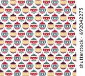 christmas ball vector pattern | Shutterstock .eps vector #692042275