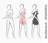 collection sexy fitness naked... | Shutterstock .eps vector #692043931
