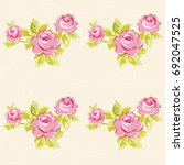 seamless floral pattern with... | Shutterstock .eps vector #692047525