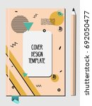 notepad  book cover design... | Shutterstock .eps vector #692050477