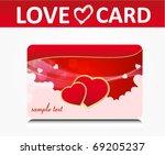 love valentine's card   Shutterstock .eps vector #69205237