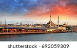istanbul at sunset with mosque... | Shutterstock . vector #692059309