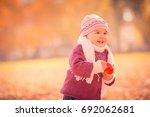 beautiful outdoor autumn... | Shutterstock . vector #692062681