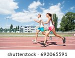 runner on competition and... | Shutterstock . vector #692065591