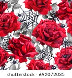 Red Roses  Black Spiders  Web....