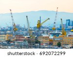 large construction site... | Shutterstock . vector #692072299