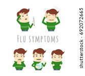 flu and common cold infographic ... | Shutterstock .eps vector #692072665