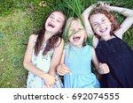 friends have the pleasure of... | Shutterstock . vector #692074555