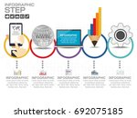business data process chart.... | Shutterstock .eps vector #692075185