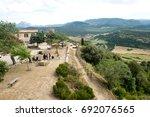 small village rennes le chateau ... | Shutterstock . vector #692076565