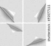 paper corner folds. set of four ... | Shutterstock .eps vector #692077111