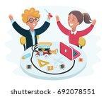 vector cartoon illustration of... | Shutterstock .eps vector #692078551