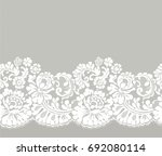 seamless lace ribbon | Shutterstock .eps vector #692080114