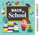 back to school. vector... | Shutterstock .eps vector #692080279