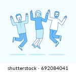 vector illustration in flat... | Shutterstock .eps vector #692084041
